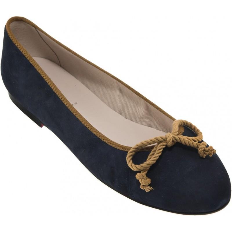 Bisue - Ballerina Suède Bleu