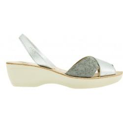 Ria - Paula Metal Grain Silver