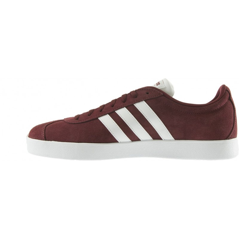 Adidas - VL Court 2.0 Grenat Blanc